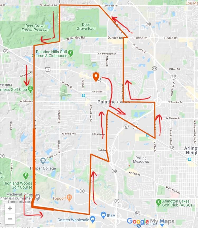 divine mercy procession route