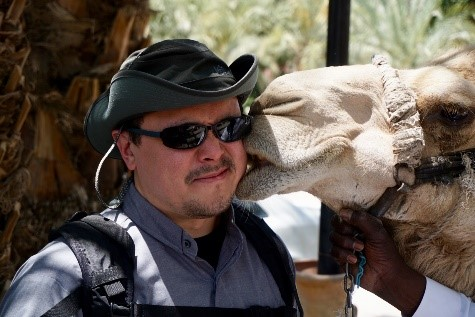 Pilgrimage - Fr. Matt and camel