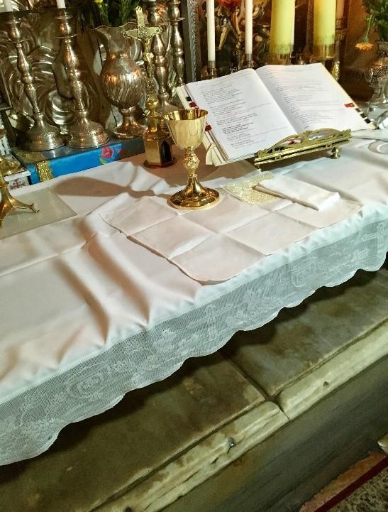 Pilgrimage 7 - altar tomb bed of Christ